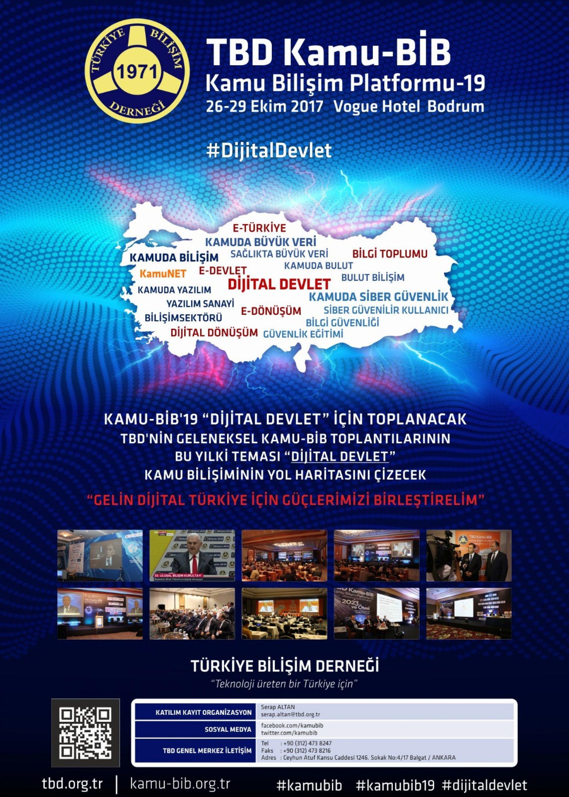 """KAMU-BİB'19 """"DİJİTAL DEVLET"""" İÇİN TOPLANIYOR"""